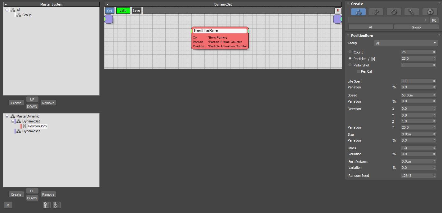 图2:创建PositionBorn节点
