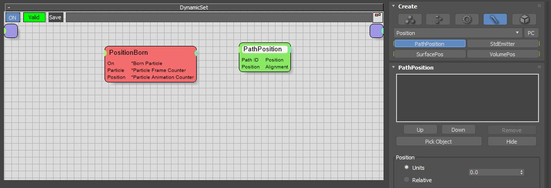 图8:创建PathPosition节点