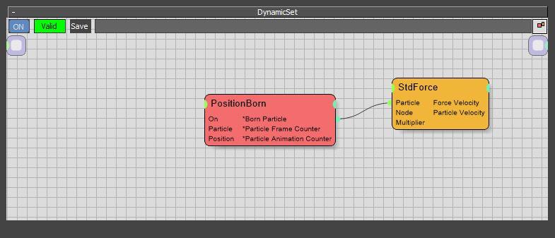 图8:连接PositionBorn与StdForce节点