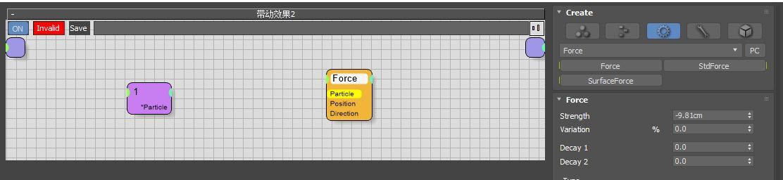 图5:创建Force节点