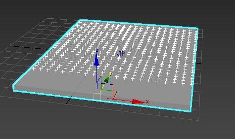 图12:粒子规则平铺出生的效果