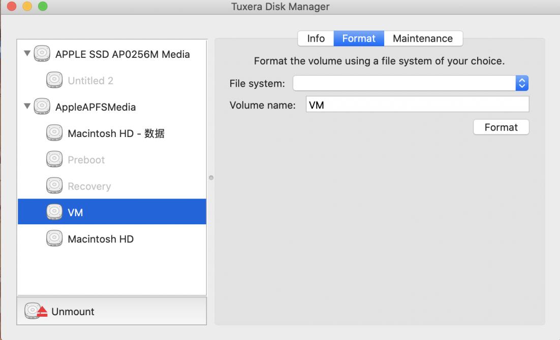 选择某一个磁盘界面