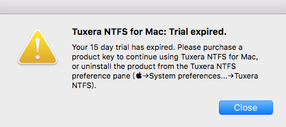 Tuxera NTFS无法继续使用了怎么办