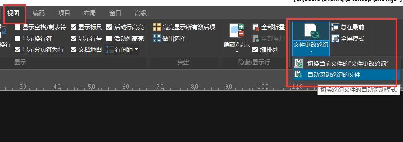 图4:视图菜单的文件更改轮询