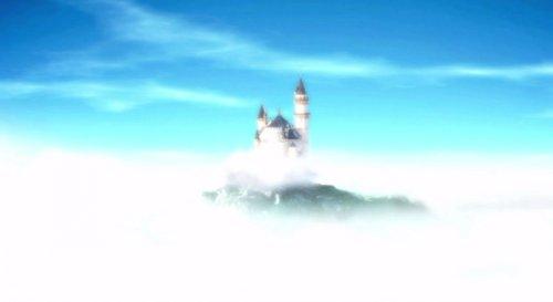 云中的天鹅湖宫殿视频素材