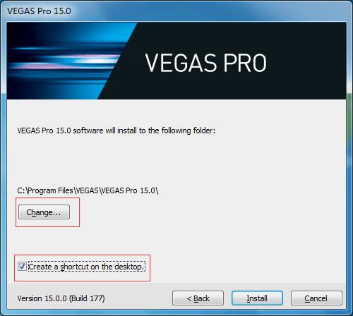 Vegas选择安装位置