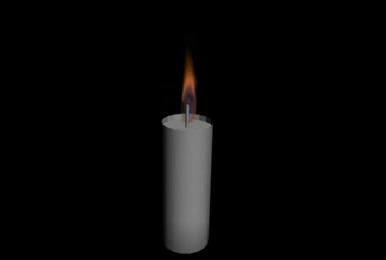 原蜡烛燃烧效果
