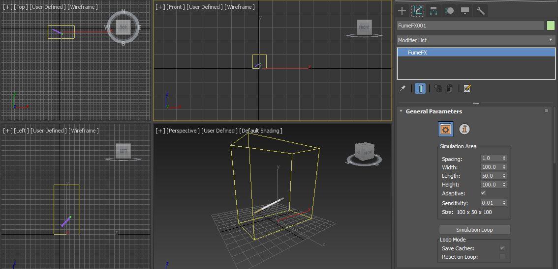 图3:创建FumeFX模拟区