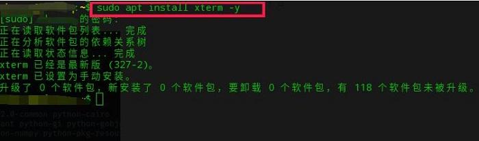 图2:Xterm错误信息localhost:16.0