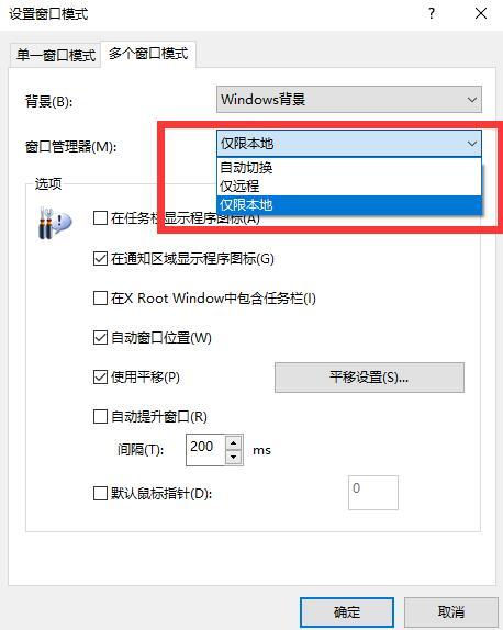 设置窗口管理器选项