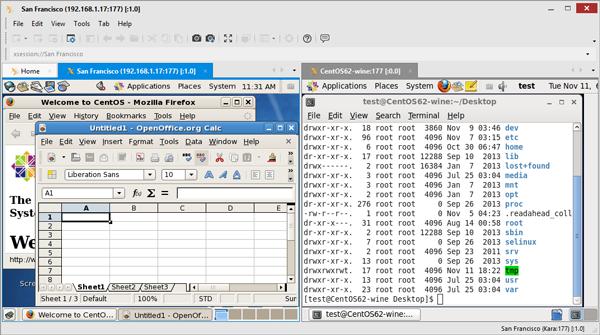 XBrowser显示2远程桌面会话并排
