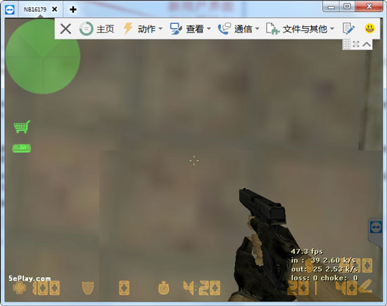 使用TeamViewer远程的游戏界面