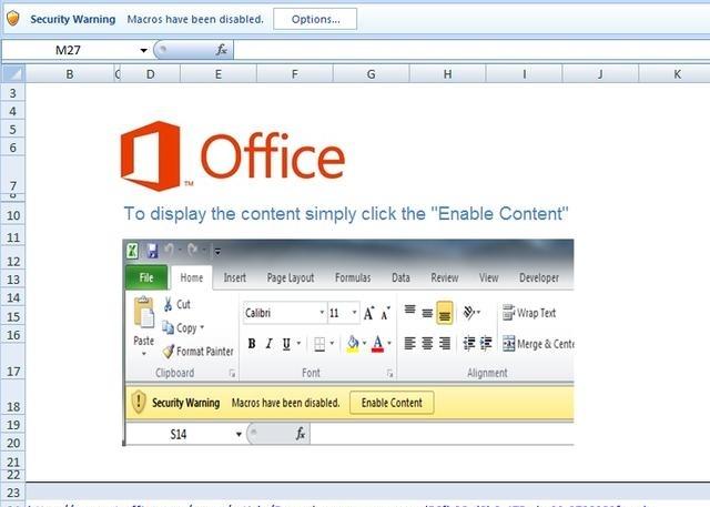 带有宏的Excel文件