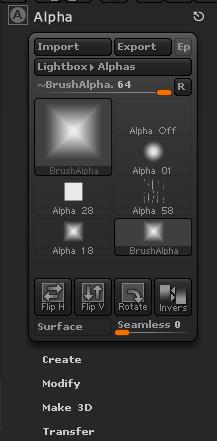 Alpha面板