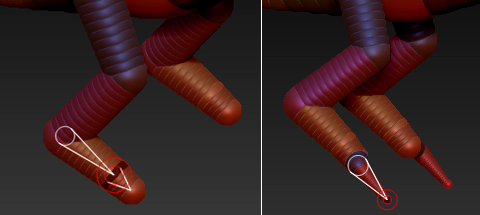 Z球创建脚部