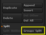 Groups Split按钮