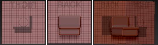 ShadowBox制作沙发