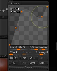添加曲线控制点