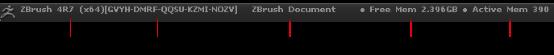 ZBrush标题栏