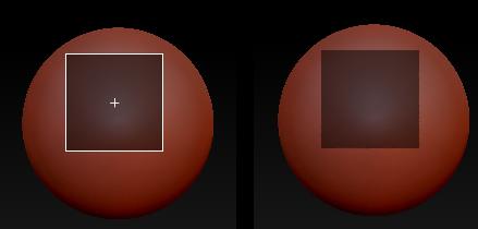 正方形遮罩绘制