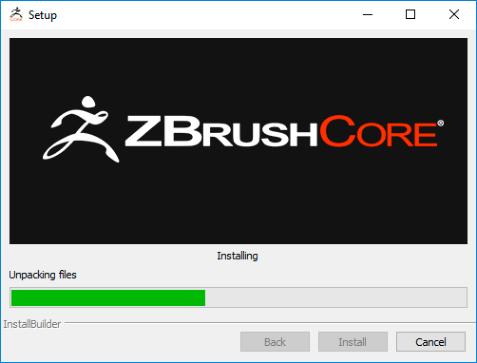 安装ZBrushCore