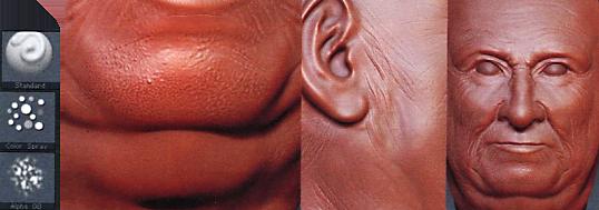ZBrush皮肤纹理