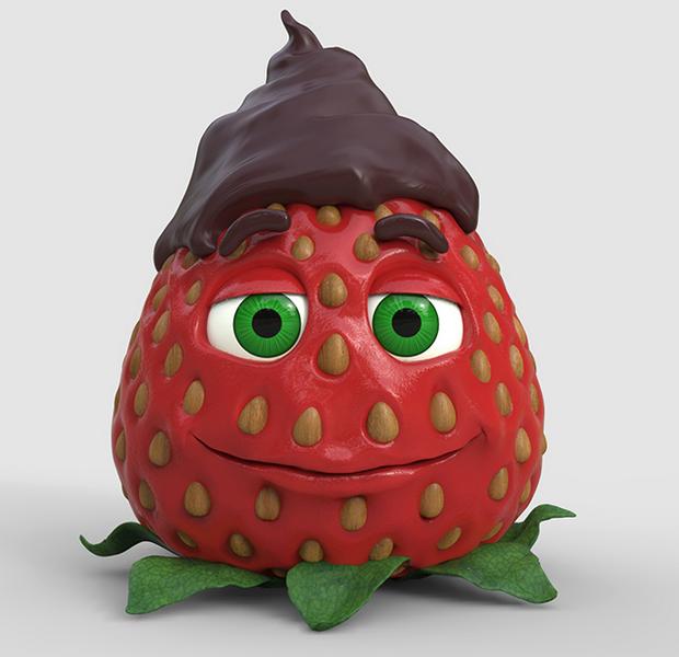 ZBrush雕刻草莓
