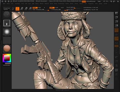 zbrush 3D雕刻