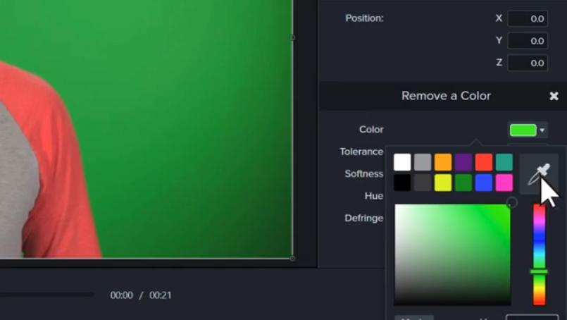 图2:选择删除背景颜色