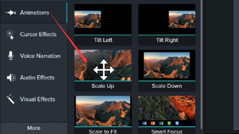 图1:视频放大的编辑操作。