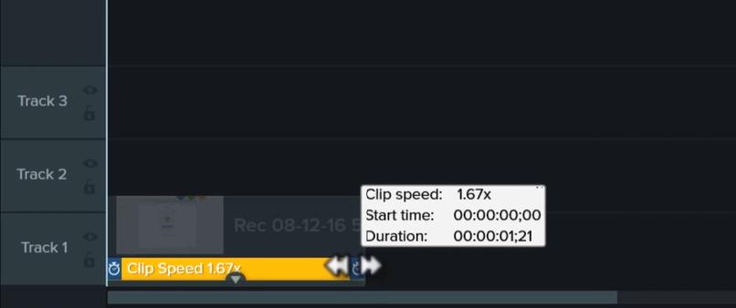 图1:剪辑速度界面操作