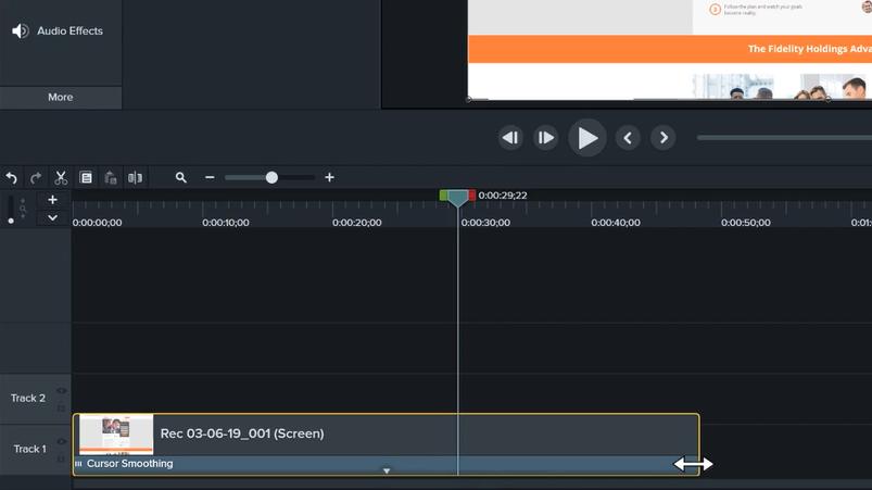 图3:调整录制视频长度